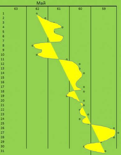 График снижения веса май